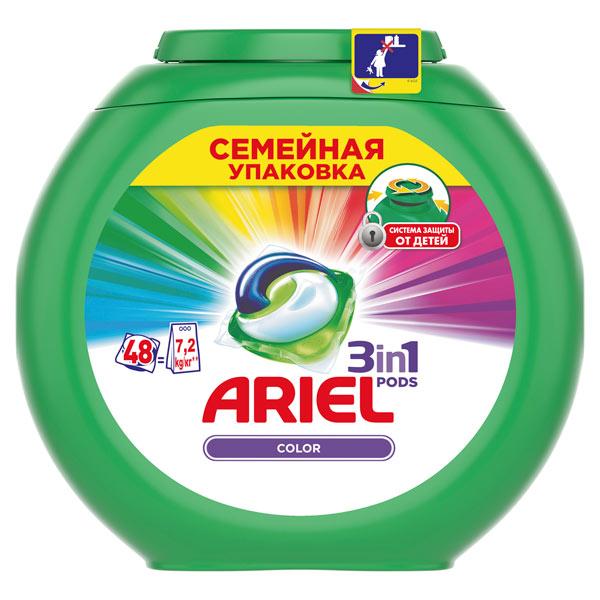 Жидкость для стирки Ariel 3in1 PODS 48 кап. Color