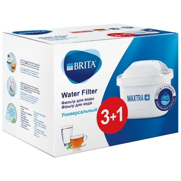 Картридж к фильтру для очистки воды Brita MAXTRA+ Универсальный 3+1 шт.