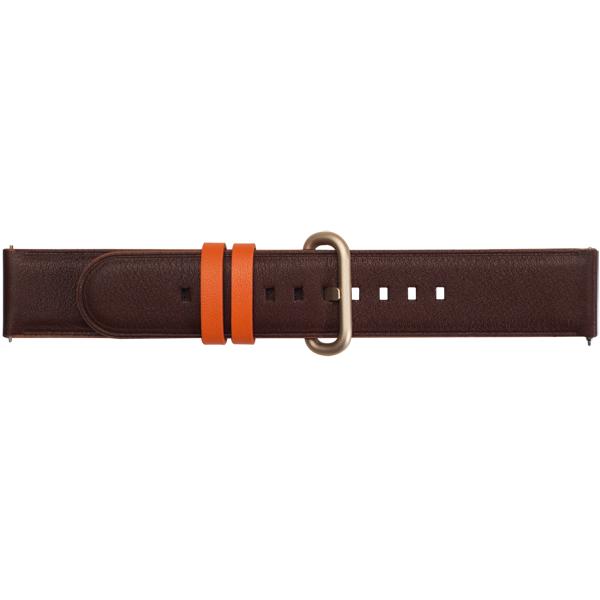 Сменный ремешок Samsung Braloba Active Leather Dress Galaxy WA Dark Brown