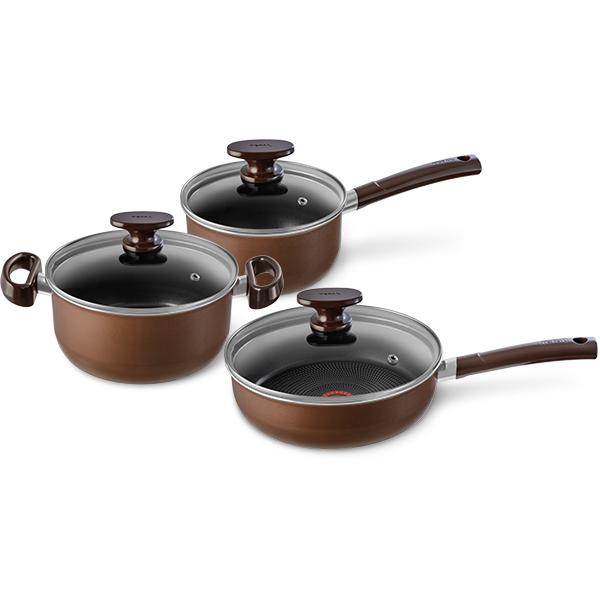 Набор посуды (антипригарное покрытие) Tefal 6 предметов Tendance Brownie (041082830)