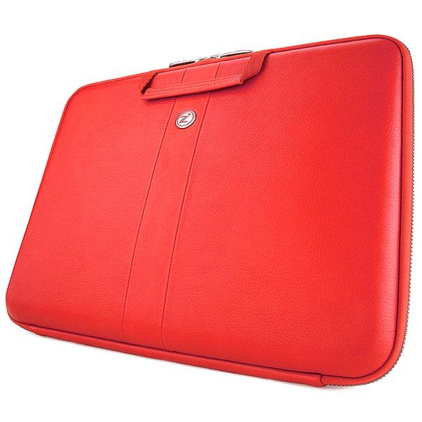 """Кейс для ноутбука Cozistyle — Smart Sleeve кожаный для MacBook 15/16"""" Red"""