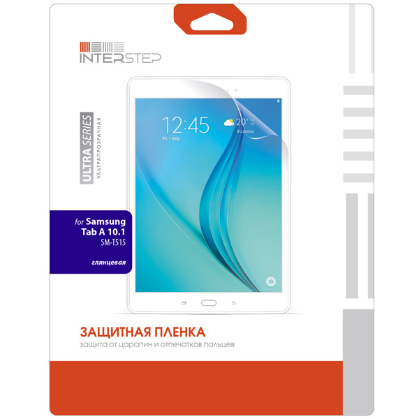 Плёнка для планшетного компьютера InterStep Ultra глянцевая для Samsung Tab A 10.1