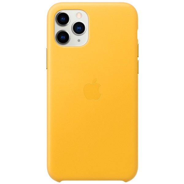 Чехол Apple — iPhone 11 Pro Leather Case Meyer Lemon