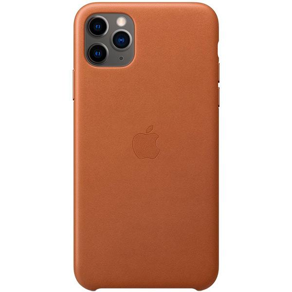 Чехол Apple — iPhone 11 Pro Max Leather Case Saddle Brown