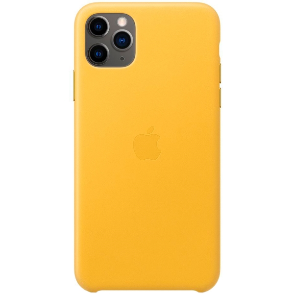 Чехол Apple — iPhone 11 Pro Max Leather Case Meyer Lemon