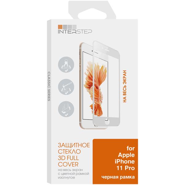 Защитное стекло InterStep 3D для iPhone11 Pro Черн.рамка