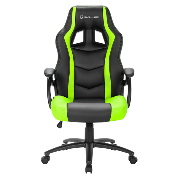 Кресло компьютерное игровое Sharkoon Skiller SGS1 Black/Green SHARKOON