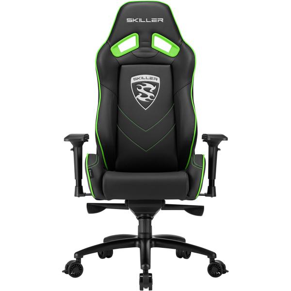 Кресло компьютерное игровое Sharkoon Skiller SGS3 Black/Green