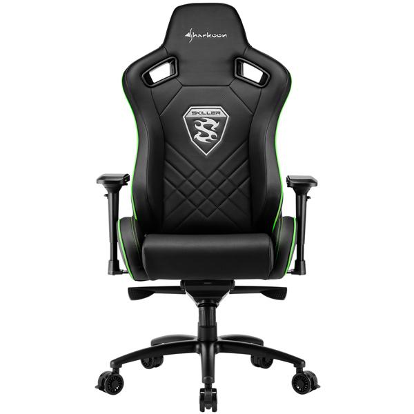 Кресло компьютерное игровое Sharkoon Skiller SGS4 Black/Green