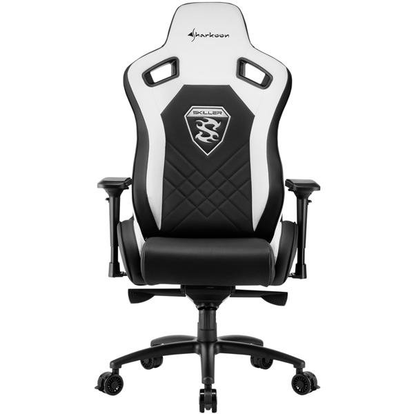 Кресло компьютерное игровое Sharkoon Skiller SGS4 Black/White