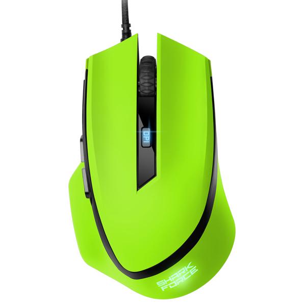 Игровая мышь Sharkoon Shark Force Green