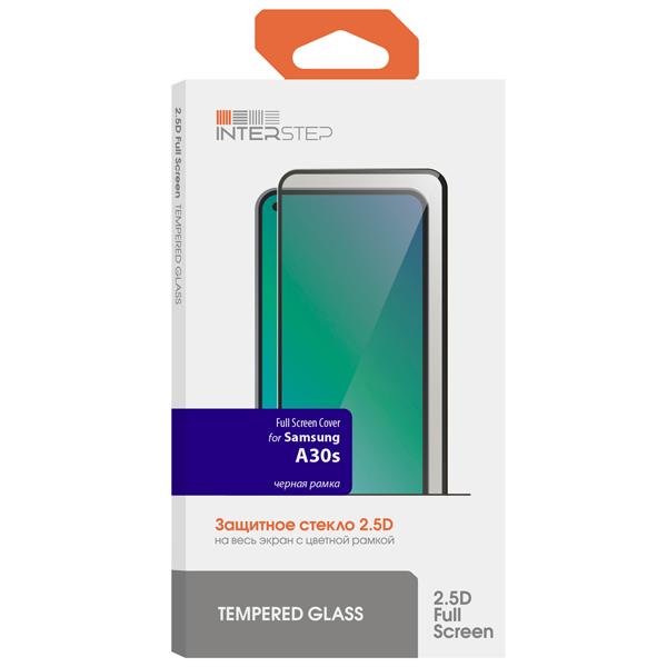 Защитное стекло для Samsung InterStep, FSC для Galaxy A30s Black  - купить со скидкой