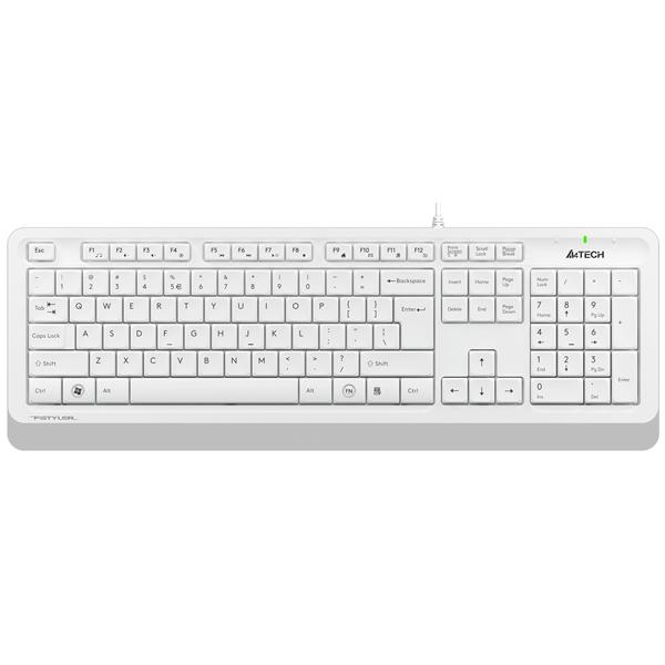 Клавиатура проводная A4Tech FStyler FK10 White/Grey