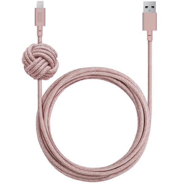 Кабель для iPod, iPhone, iPad Native Union Night Cable Rose (NCABLE-KV-L-ROSE) фото