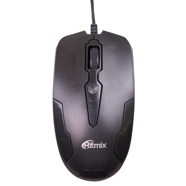 Мышь проводная Ritmix ROM-210 Black