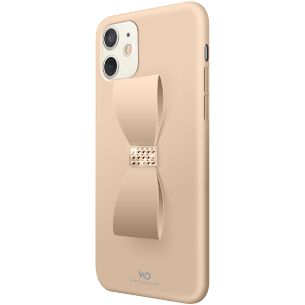 Чехол White Diamonds Bow Case iPhone 11 золотой золотистого цвета