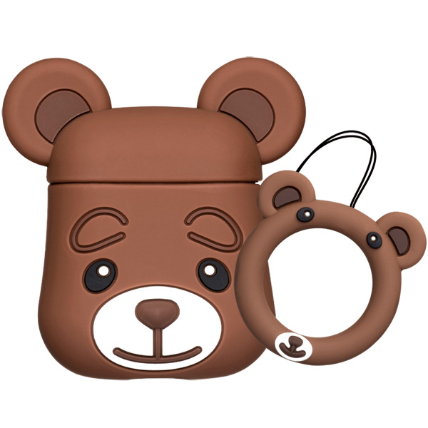 Чехол для AirPods Deppa — Brown Bear