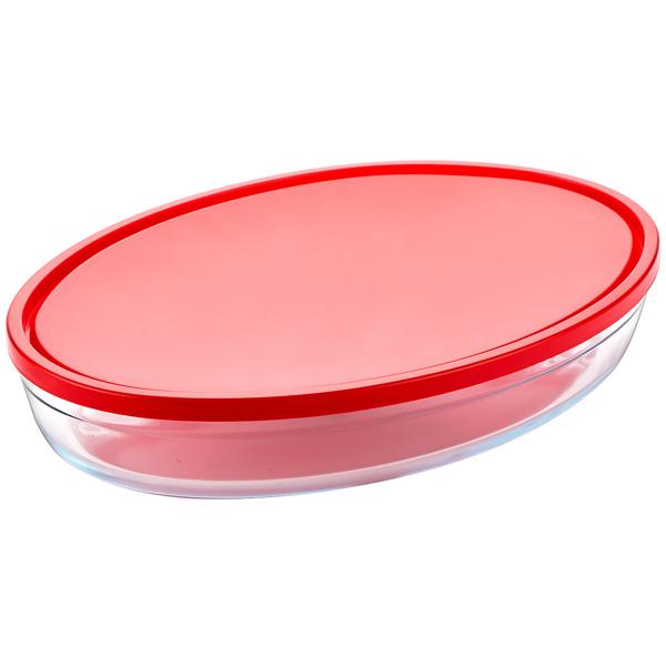 Форма для выпекания (стекло) Pyrex XL с крышкой, 35х24х6см (346BN00R)