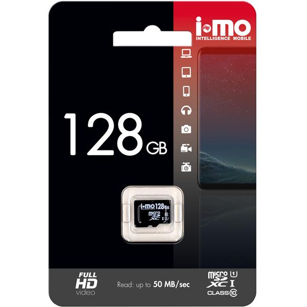 Карта памяти SDHC Micro IMO — 128GB Сlass10 UHS-I