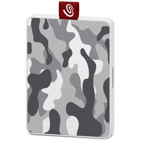 Внешний диск SSD Seagate 500GB One Touch SSD Camo Gray/White (STJE500404)
