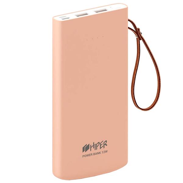Внешний аккумулятор HIPER — Travel10K Peach
