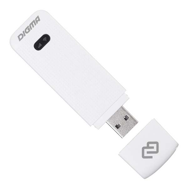 Приемник Wi-Fi Digma модем 3G/4G Dongle White (DW1961)