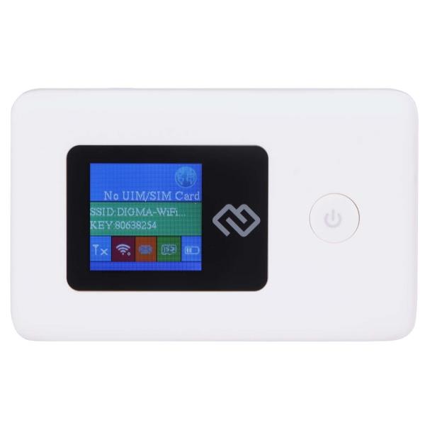 Модем 3G/4G Digma — Mobile Wi-Fi White (DMW1969)
