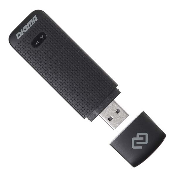 Приемник Wi-Fi Digma модем 3G/4G Dongle Black (DW1961)