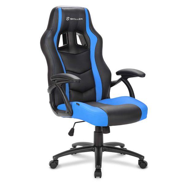 Кресло компьютерное игровое Sharkoon Shark Skiller SGS1 Black/Blue SHARKOON