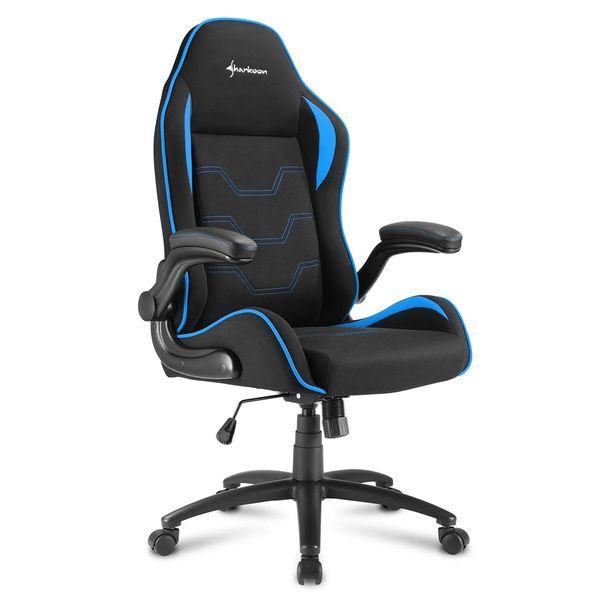 Кресло компьютерное игровое Sharkoon Elbrus 1 Black/Blue