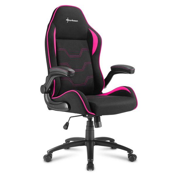 Кресло компьютерное игровое Sharkoon Elbrus 1 Black/Pink