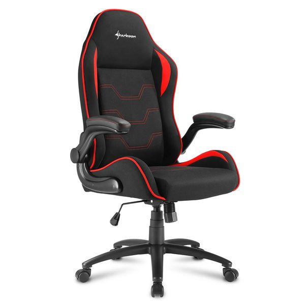 Кресло компьютерное игровое Sharkoon Elbrus 1 Black/Red