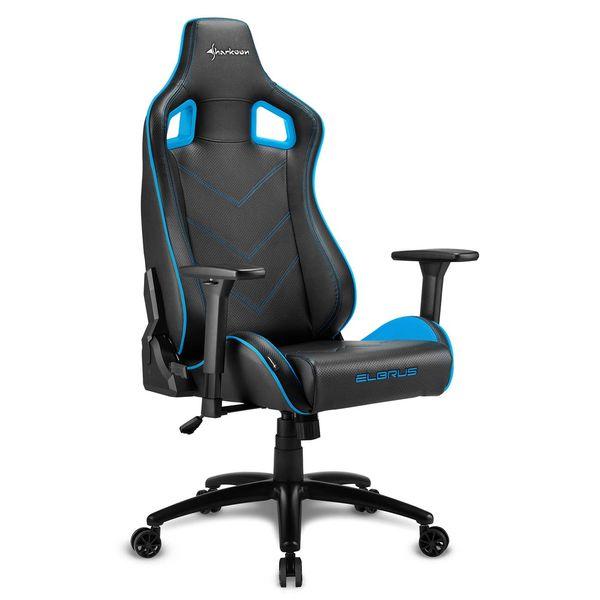 Кресло компьютерное игровое Sharkoon Elbrus 2 Black/Blue SHARKOON
