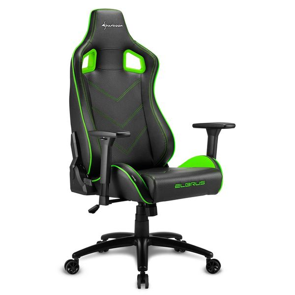 Кресло компьютерное игровое Sharkoon Elbrus 2 Black/Green SHARKOON