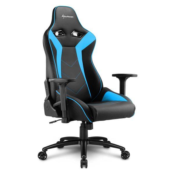 Кресло компьютерное игровое Sharkoon Elbrus 3 Black/Blue SHARKOON