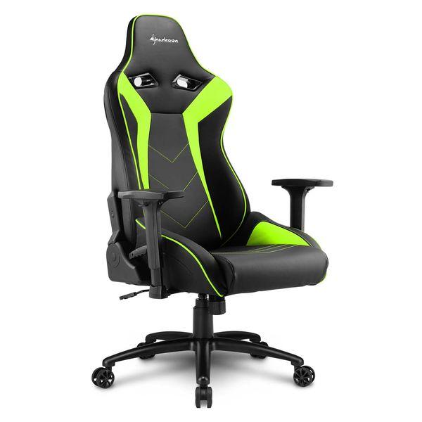 Кресло компьютерное игровое Sharkoon Elbrus 3 Black/Green SHARKOON