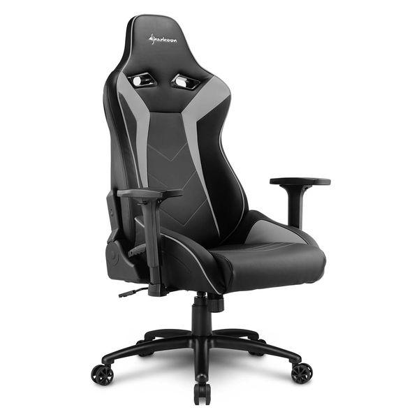 Кресло компьютерное игровое Sharkoon Elbrus 3 Black/Grey SHARKOON