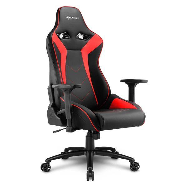 Кресло компьютерное игровое Sharkoon Elbrus 3 Black/Red SHARKOON