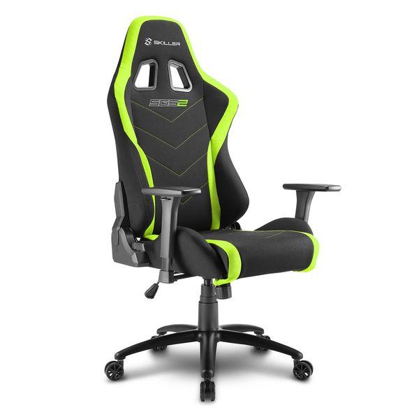 Кресло компьютерное игровое Sharkoon Shark Skiller SGS2 Black/Green