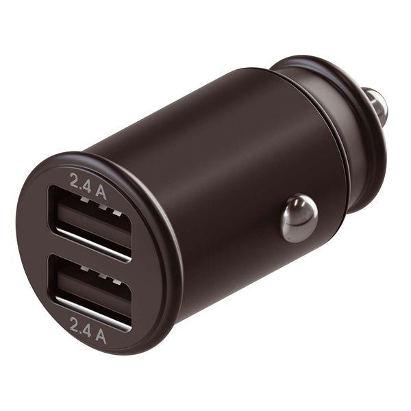 Автомобильное зарядное устройство InterStep Metal: 2*USB(2,4А+2,4А) 24W, Black