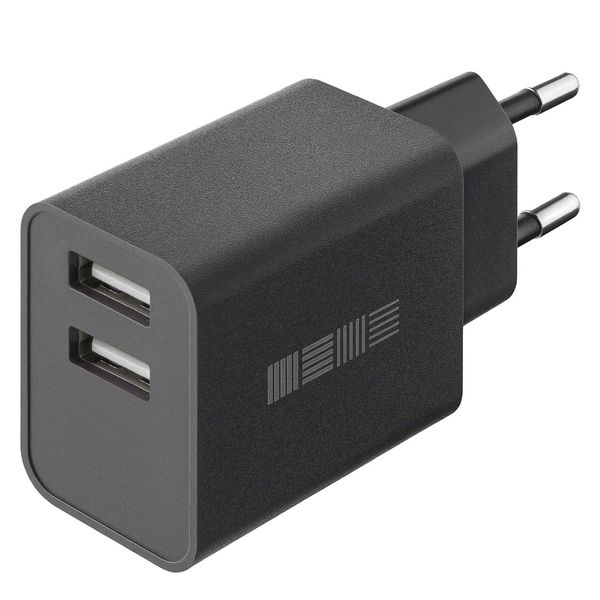 Сетевое зарядное устройство InterStep New RT:2*USB 2A, Black