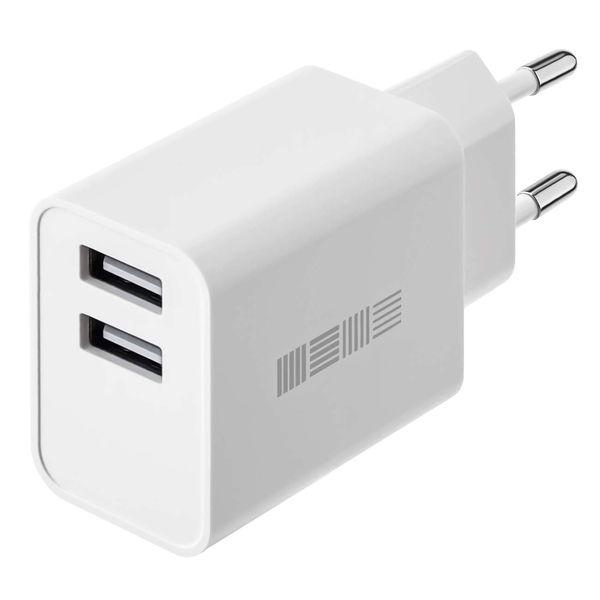 Сетевое зарядное устройство InterStep New RT:2*USB 2.4A, White