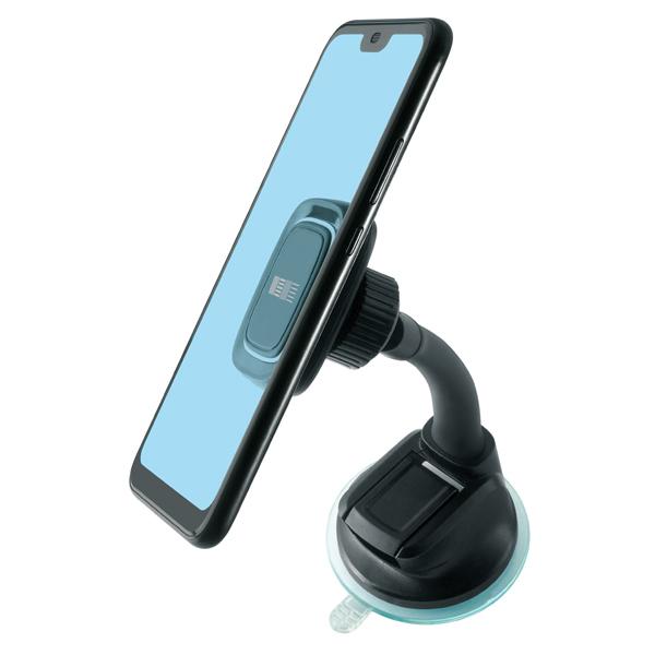 Автомобильный держатель InterStep магнитный на лоб.стекло, штанга 15см, PU присоска