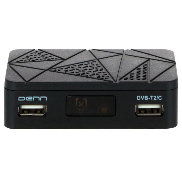 Приемник телевизионный DVB-T2 Denn DDT141