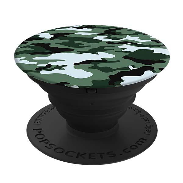 Кольцо-держатель для телефона Popsockets Dark Green Camo (101745) зеленый