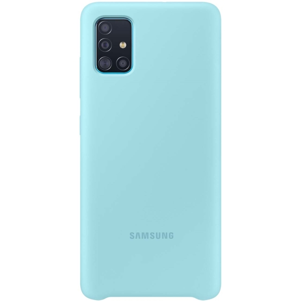 Чехол Samsung — Silicone Cover для A51, Blue