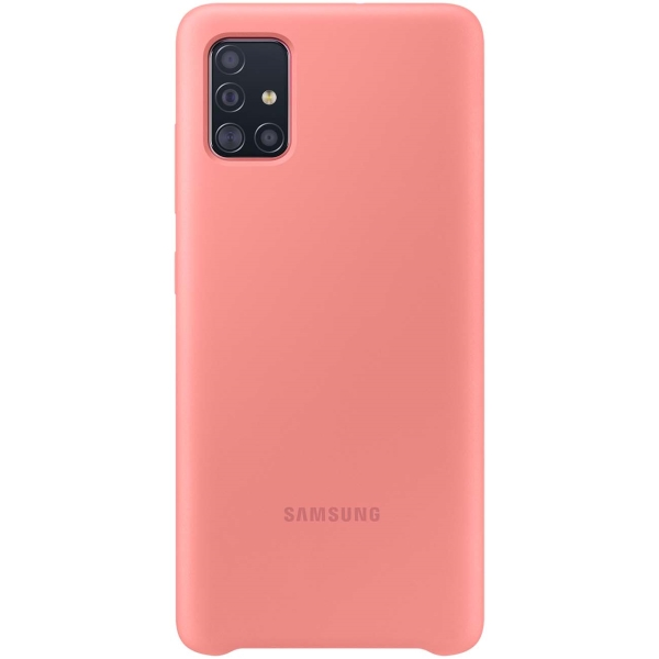 Чехол Samsung — Silicone Cover для A51, Pink
