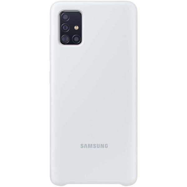 Чехол Samsung — Silicone Cover для A51, White