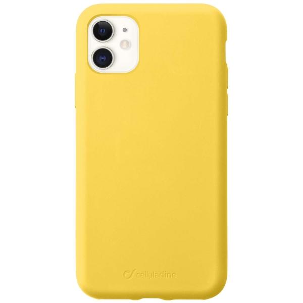 Чехол Cellular Line Sensation iPhone 11 желтый (SENSATIONIPHXR2Y) желтого цвета