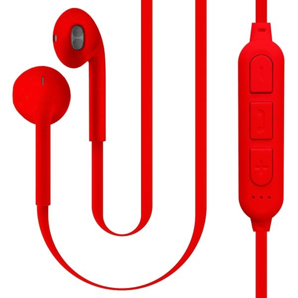 Наушники Bluetooth QUB STN-178 Red